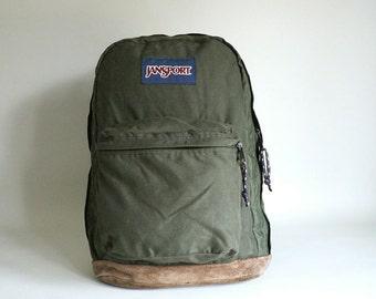 Jansport Backpack Leather Bottom