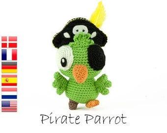 Crochet pattern Pirate Parrot