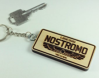 USCSS NOSTROMO from the movie Alien Keyring keychain
