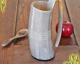 Drinking Horn Mug 500ml tan