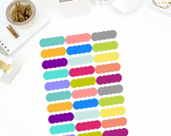 Scallop Stickers! Perfect for your Erin Condren Life Planner, calendar, Paper Plum, Filofax!