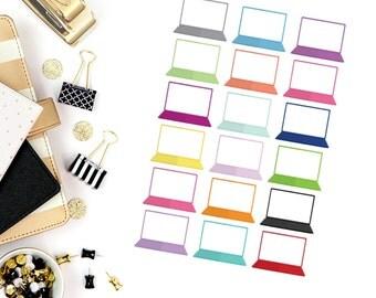 Large Laptop Stickers! Perfect for your Erin Condren Life Planner, calendar, Paper Plum, Filofax!