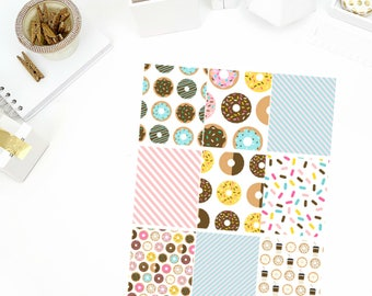 Donut Worry Full Boxes Stickers! Perfect for your Erin Condren Life Planner, calendar, Paper Plum, Filofax!