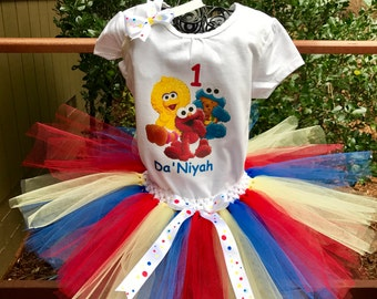 Sesame Street tutu set, baby Sesame Street tutu set