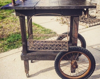 rustic bar cart etsy. Black Bedroom Furniture Sets. Home Design Ideas