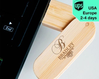 Elegant - Personalised USB flash drive, Laser Engraved Pendrive