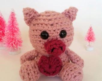 Crochet Mini Pig Plush Amigurumi