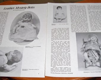 1979 Doll Magazine Article ~~ Leather Mystery Dolls