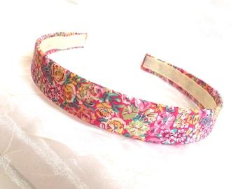 Liberty of London - Pink Cotton Headband - Liberty Cotton Pink - Liberty Hairband - Liberty Flower Print - Liberty Headband- Flower Headband