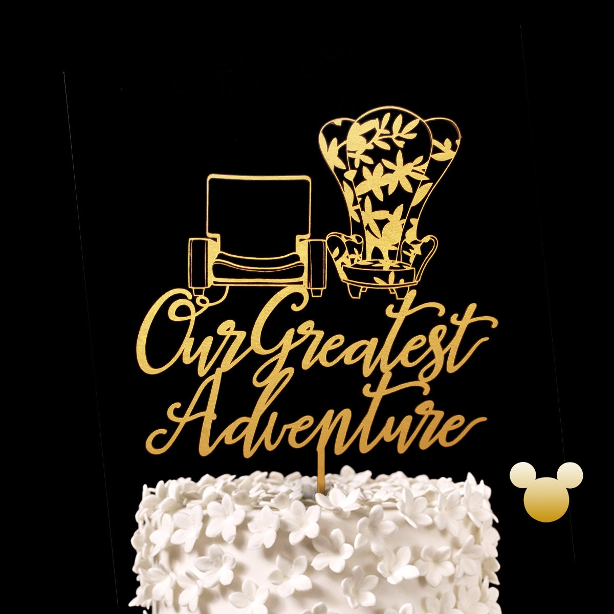Our Greatest Adventure Up Chairs Wedding Cake Topper Disney