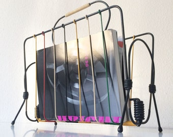 Decorative MODERNIST Mid Century Modern MAGAZINE RACK Magazine Holder | 1950s / 1960s