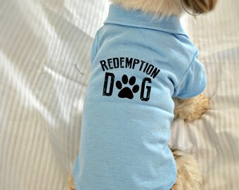 Custom Design Polo Dog Shirt. Your Logo or Custom Design on Small Dog Polo Shirt. Pet Clothes. Dog Clothing.