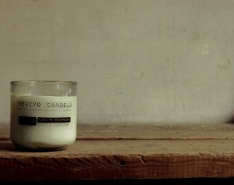Scented candle No.. 22 bonfire rendezvous, 100% eco soy wax, vegan, scented candle with wooden Wick, Cork seal, gift, hand poured