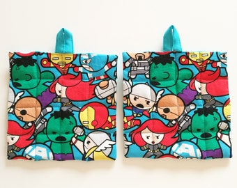 Set two fancy potholders Marvel Superheroes