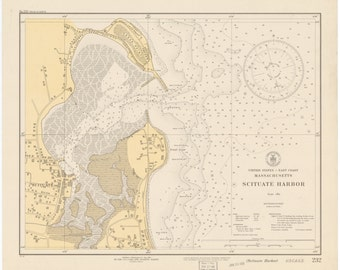 Scituate Harbor Map - 1931