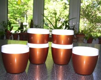 NFC Thermal Cups No Handles 8oz Set of 6 Vintage