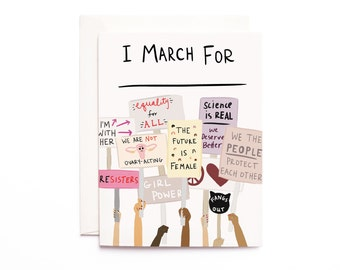 Women's March: I March For ______ Cards, Profits Donated to Planned Parenthood