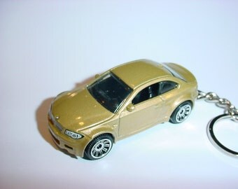 3D BMW M1 custom keychain by Brian Thornton keyring key chain finished in gold color trim one series