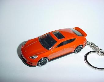 3D Porsche Panamera custom keychain keyring key chain diecast metal body