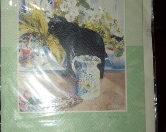 Good Luck Card  with a Black Cat