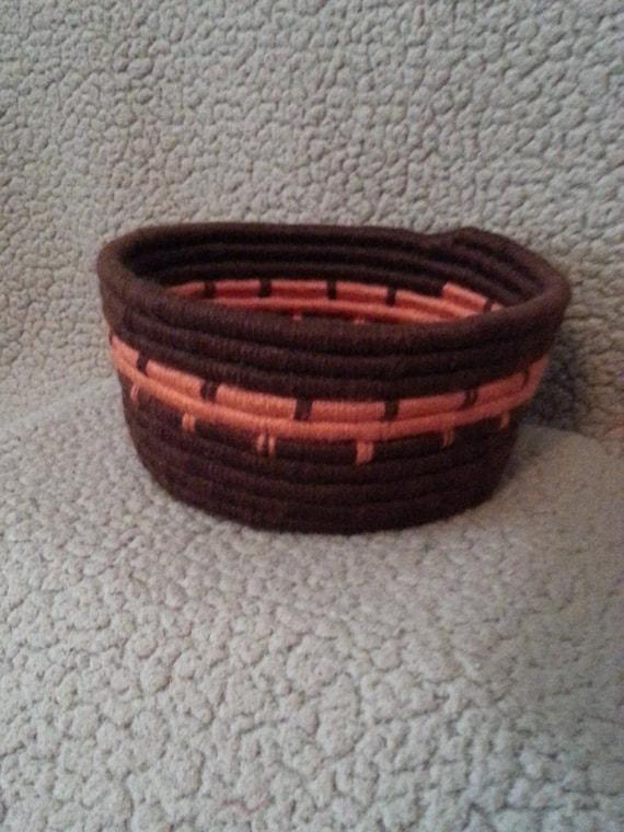 Handwoven Autumn Coil Basket / Bowl