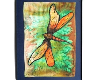 Dragonfly - Framed Silk Painting