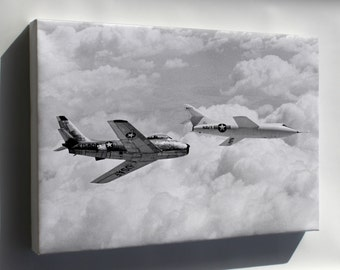Canvas 24x36; Douglas D-558-2 And The North American F-86 Sabre