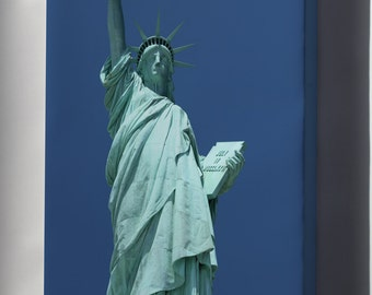 Canvas 24x36; Statue Of Liberty From Liberty Island