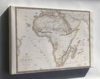 Canvas 24x36; Carte De L' Africa Map 1820