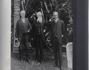 Canvas 24x36; Thomas Edison, John Burroughs, And Henry Ford