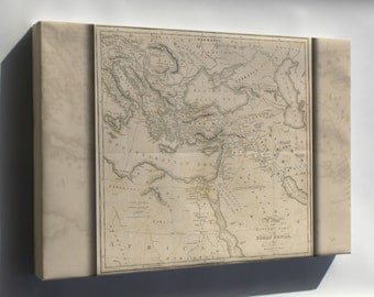 Canvas 24x36; Gibbon 1818 P2.518 Map Of The Eastern Part Of Roman Empire