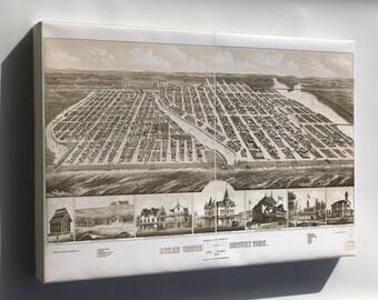 Canvas 24x36; Map Of Ocean Grove Asbury Park New Jersey 1881