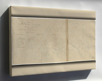 Canvas 24x36; Map Of Royal Land Companys Railroad Virginia 1870