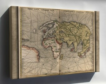 Canvas 16x24; Map Of The World 1513 P3