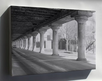 Canvas 16x24; Haer Pa,51 Phila,721 12 25Th Street Elevated View From Below