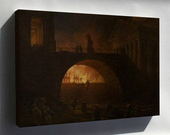 Canvas 16x24; Hubert Robert The Fire Of Rome