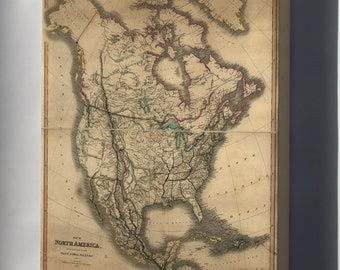 Canvas 16x24; Map Of North America 1849 Pre United States