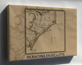 Canvas 16x24; Ocracoke Inlet, 1775