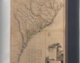 Canvas 16x24; Map Of South Carolina And A Part Of Georgia 1780