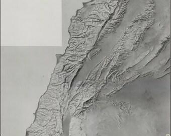 16x24 Poster; Cia Terrain Map Of Lebenon