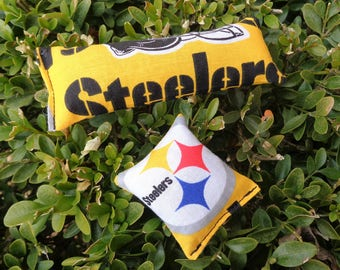 Cat Toy Pittsburgh Steelers Pet Toys Gift Organic Catnip Set of Two Black and Gold