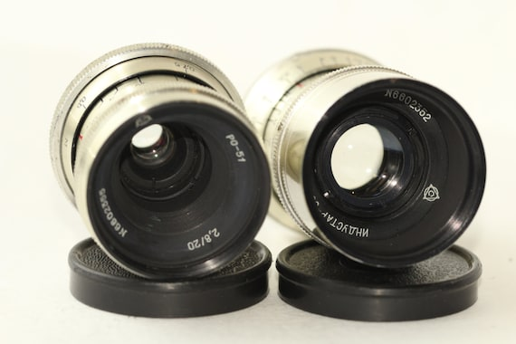 Industar 50 3.5/50 and PO-51 2.8/20 Lenses C-Mount Russian 2 pcs. N6602352