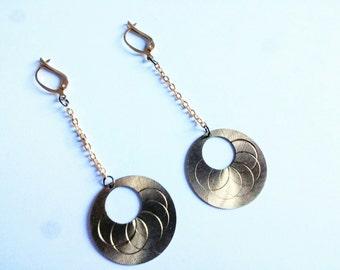Gold plated earrings with rosette flower