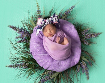 NIGHT FLORAL Gorgeous Wrap- headwrap; fabric head wrap; floral head wrap; boho; newborn headband; baby headband; toddler headband