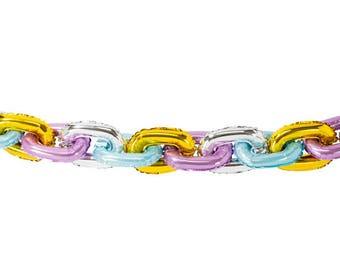 Pastel Chain Garland - Mylar ballons