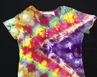Violet Prism - Ice Dyed Top (Women's L)