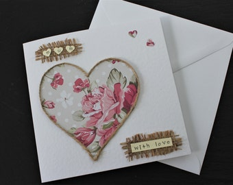 Mothers day card.  Handmade by Dotty Rainbow.  Mothers day, mum birthday, mum I love you. Let your mum know how much she is loved.