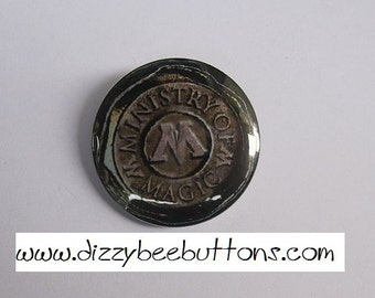 """Harry Potter Ministry of Magic Seal - 1.25"""" or 1.5"""" - Pinback Button - Magnet - Keychain"""