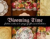 One Page Printable Scrapbooklet - Blooming Time 2 - great for junk journals, hybrid journals or mini albums