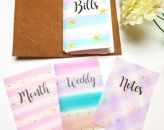 Pastel Candy Vellum Planner Dashboards For TN's and Midori Travelers Notebook V123